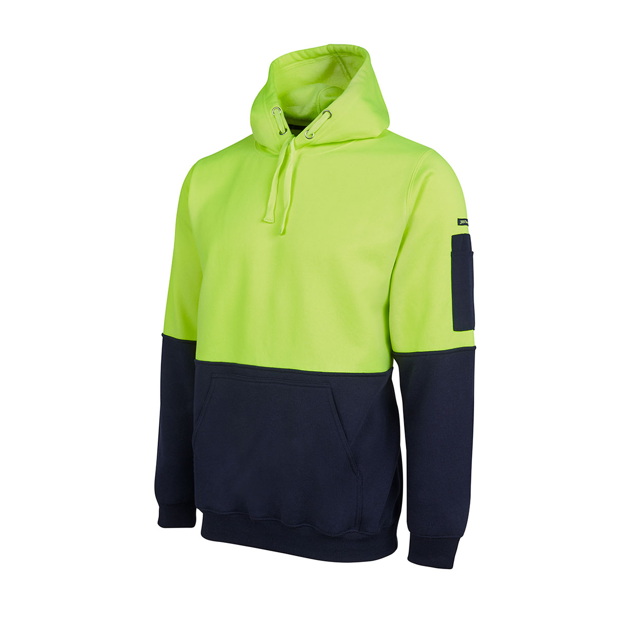 HV Pull Over Hoodie-Lime  /  Navy