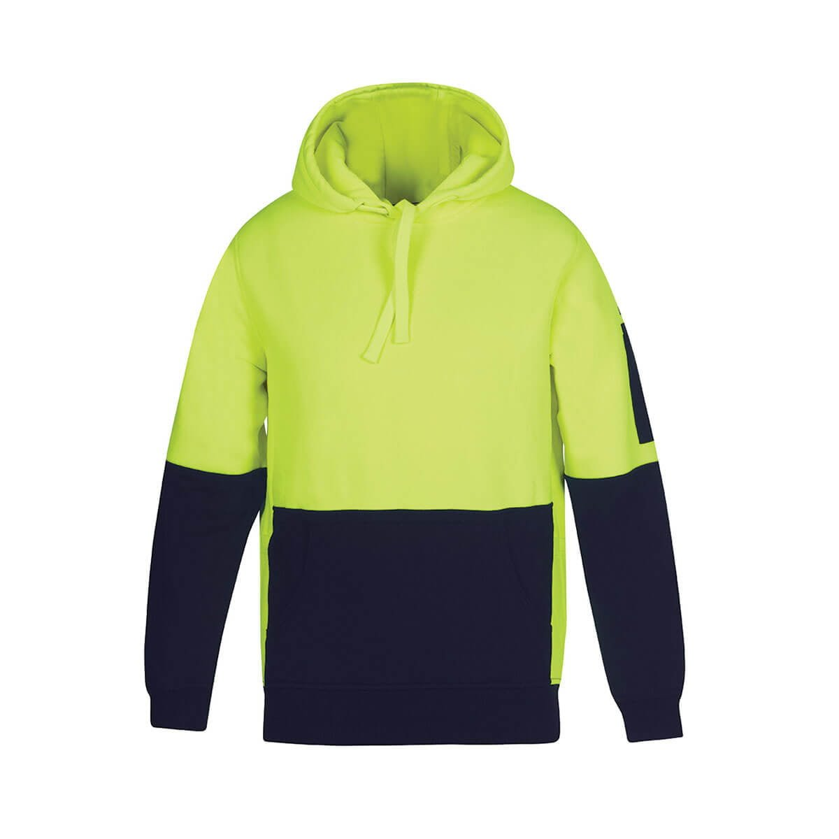 HV 330G Pull Over Hoodie-Lime  /  Navy