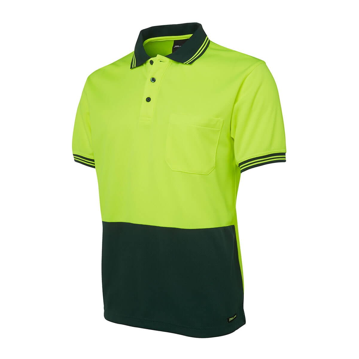 Hi Vis S/S Traditional Polo-Lime  /  Bottle