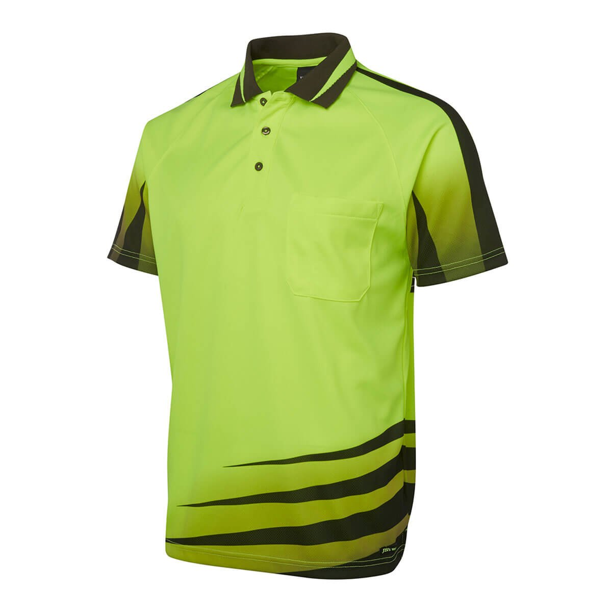 Hi Vis Rippa Sub Polo-Lime  /  Black