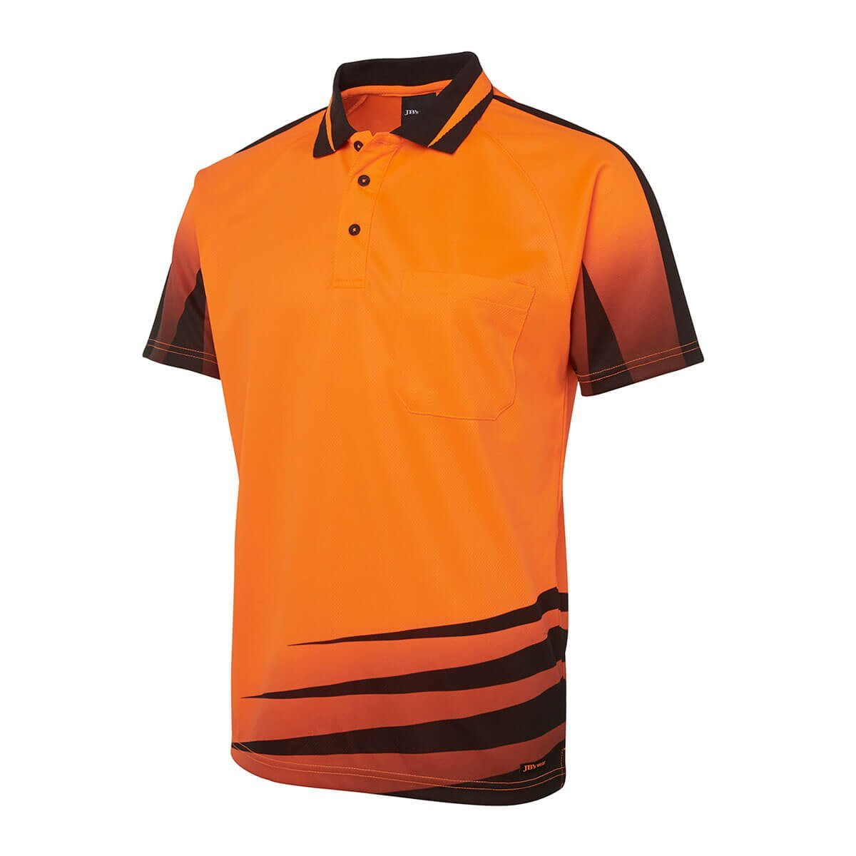 Hi Vis Rippa Sub Polo-Orange  /  Black