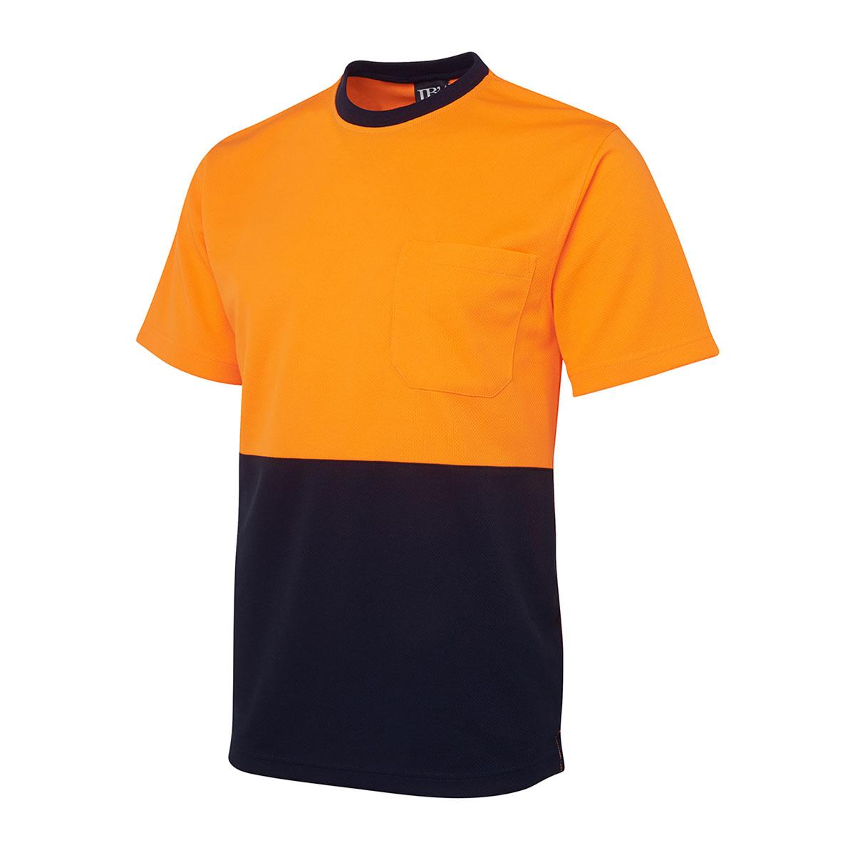 Hi Vis Traditional T-Shirt-Orange  /  Navy