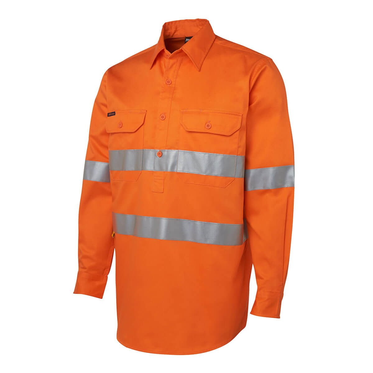 Hi Vis (D+N) Close Front L/S Shirt-Orange