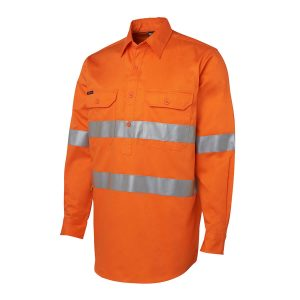 Hi Vis (D+N) Close Front L/S Shirt