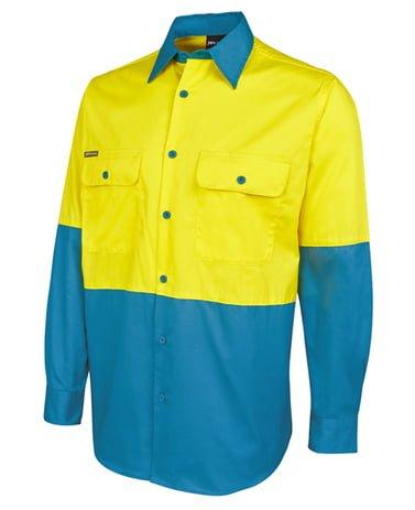 Hi Vis L/S 150G Shirt-Yellow  /  Aqua