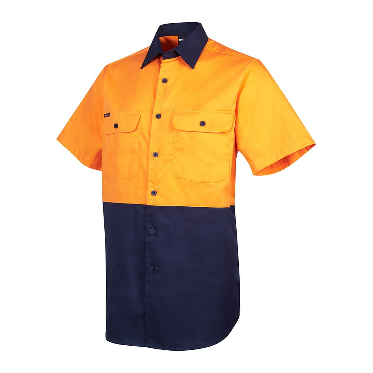 Hi Vis S/S 150G Shirt-Orange  /  Navy