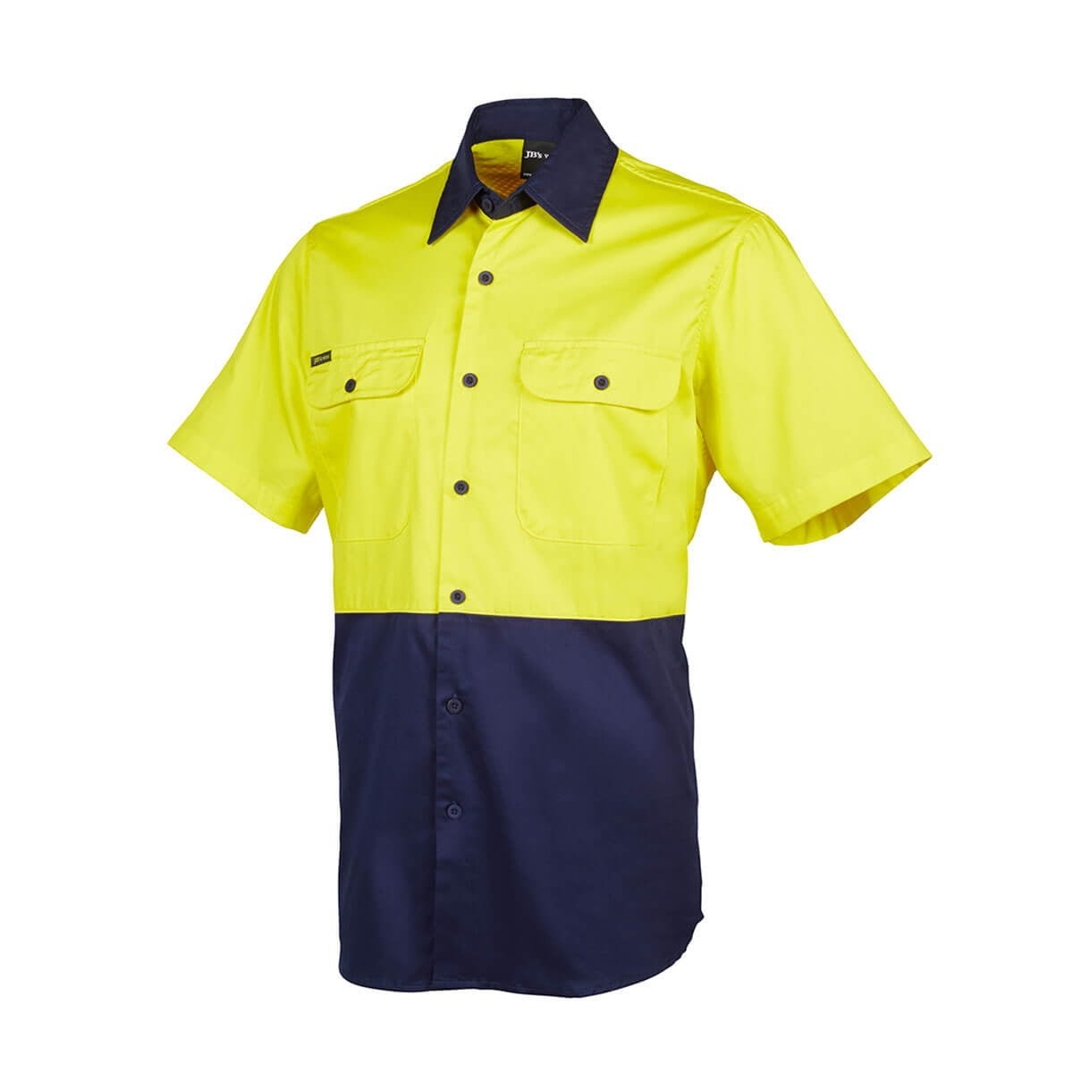 Hi Vis S/S 150G Shirt-Yellow  /  Navy