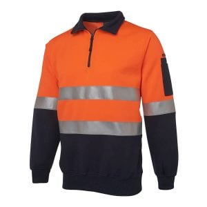 Hi Vis (D+N) 1/2 Zip Fleecy