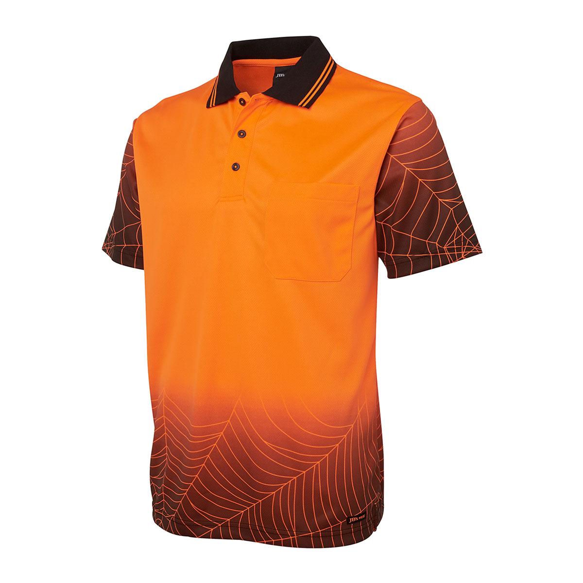 Hi Vis S/S Web-Orange  /  Black