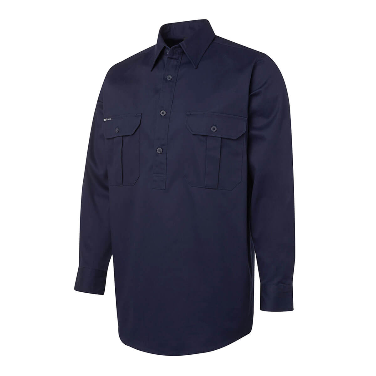L/S 190G Close Front Work Shirt Navy S