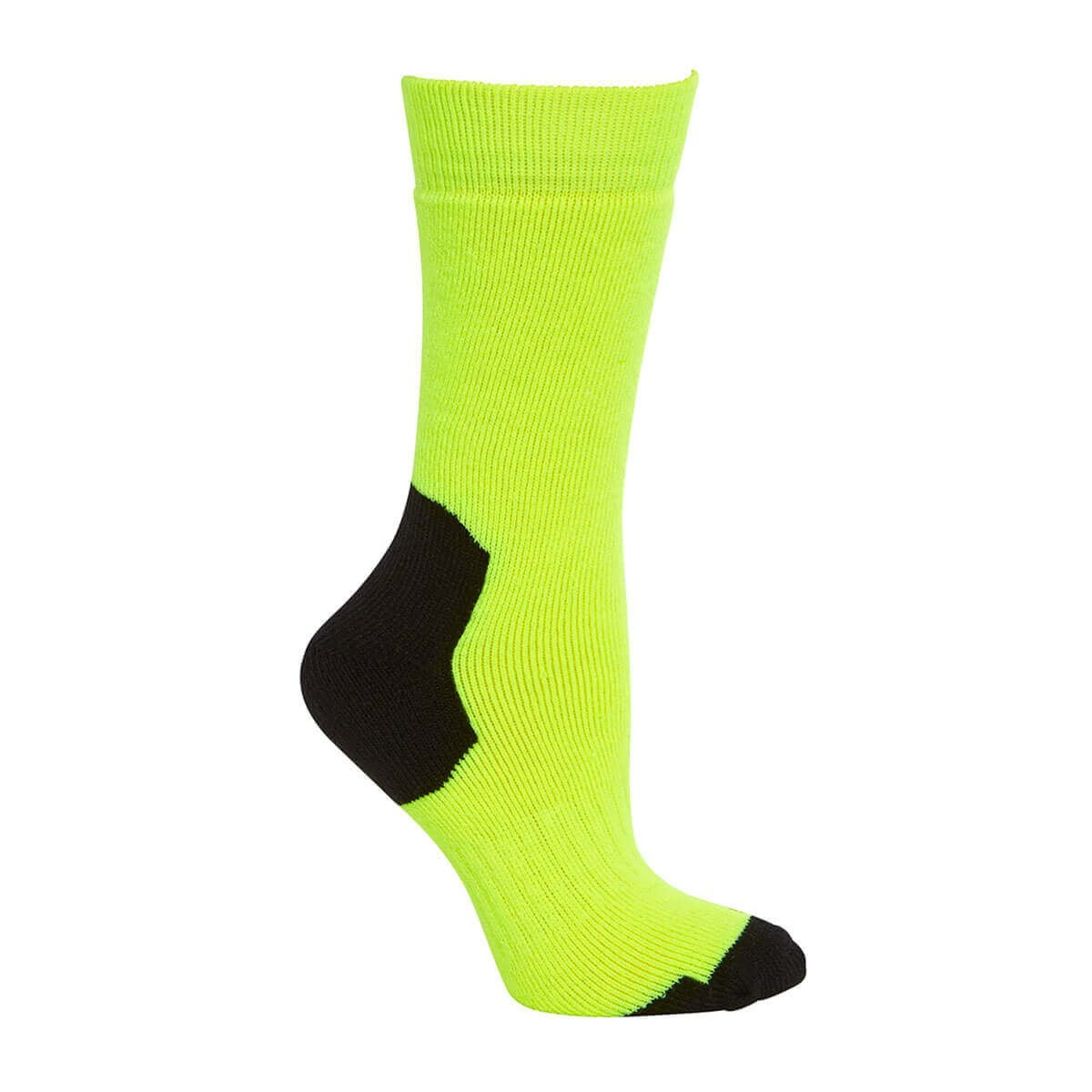 Acrylic Work Sock-Lime  /  Black