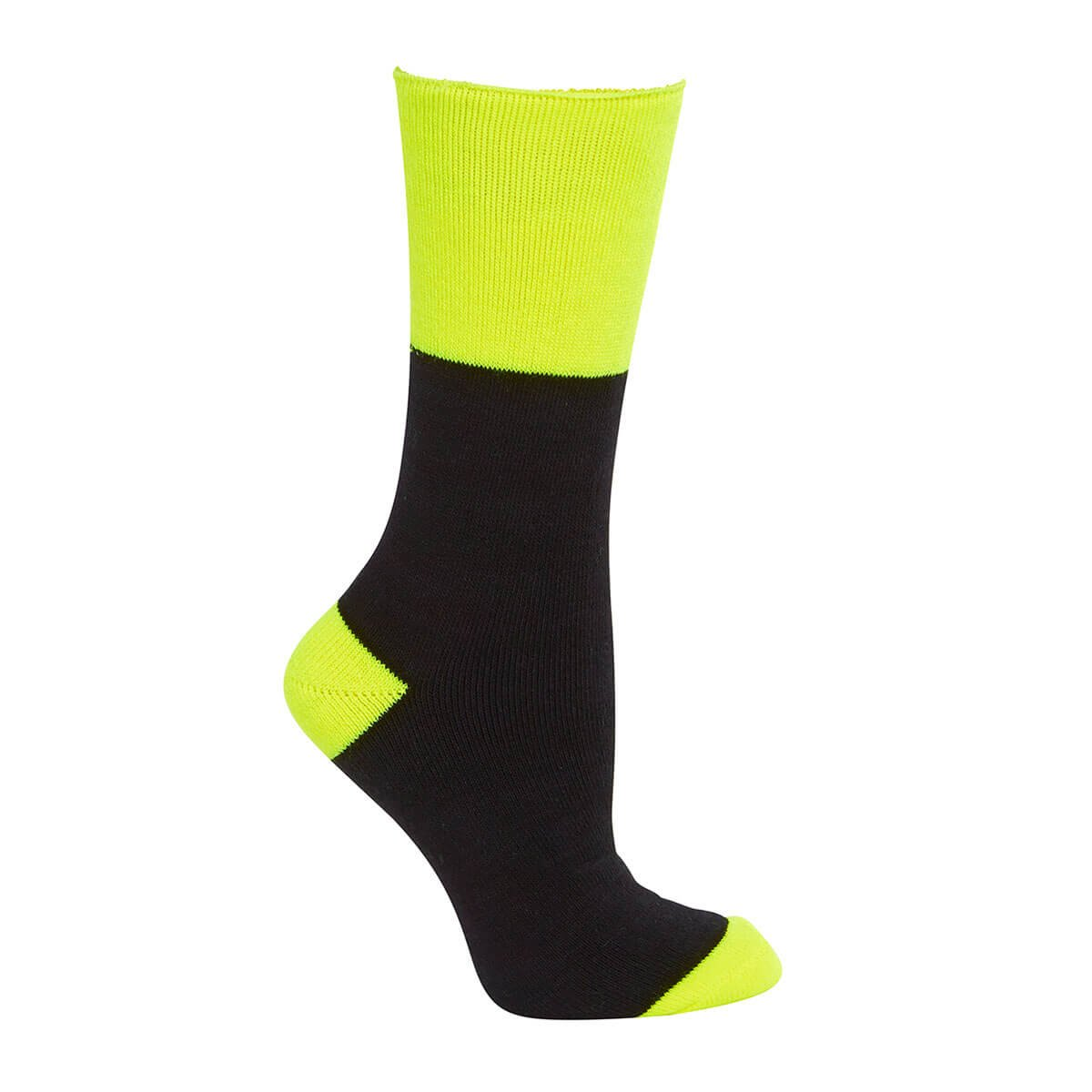 Work Sock (3 Pack)-Black  /  Lime