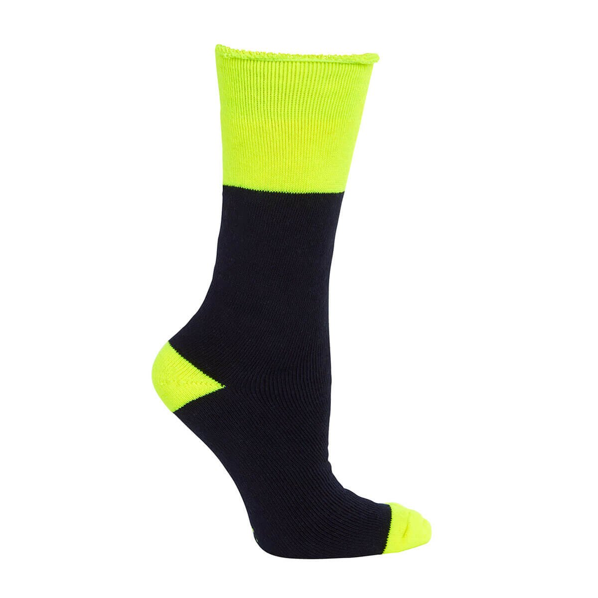 Work Sock (3 Pack)-Navy  /  Lime