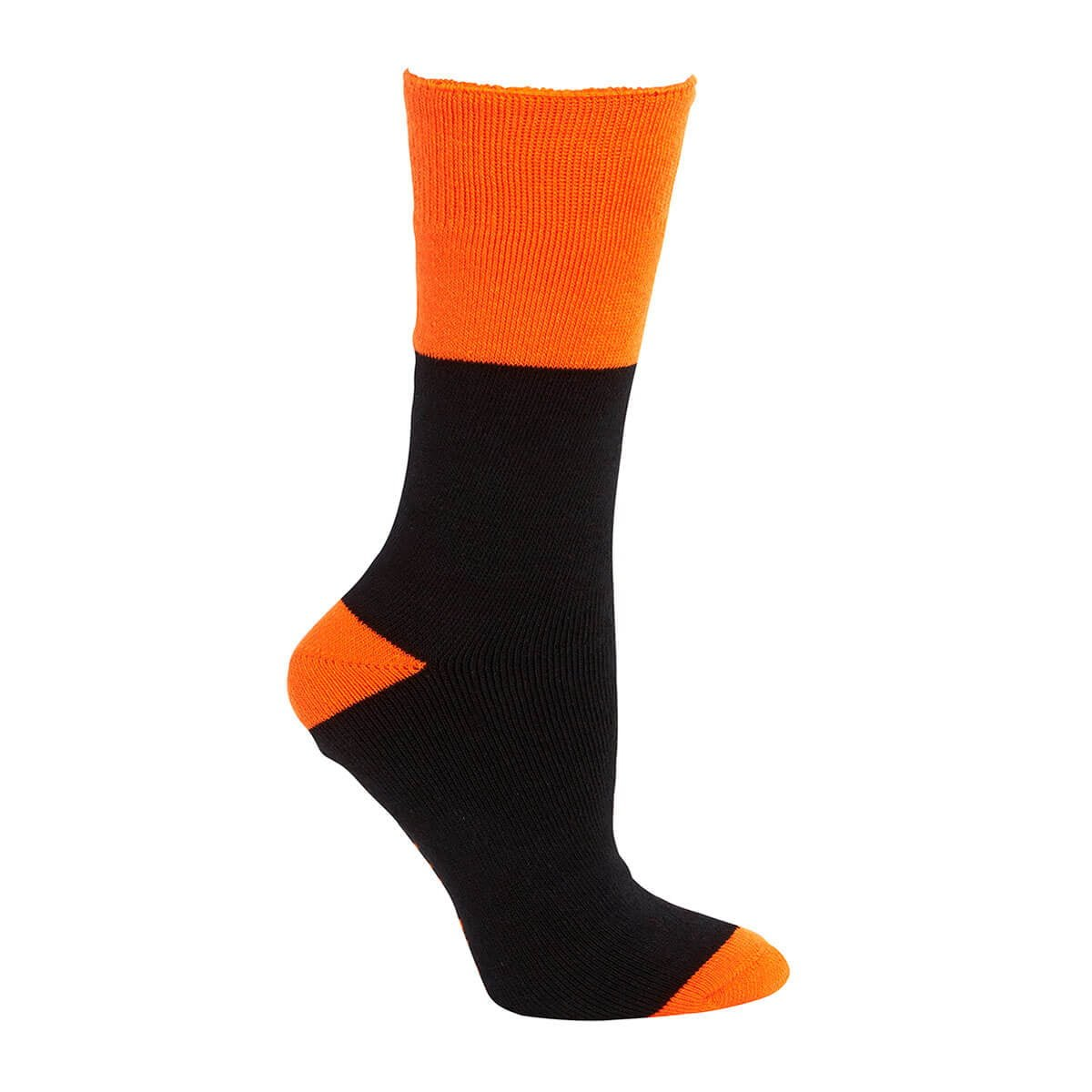 Work Sock (3 Pack)-Black  /  Orange