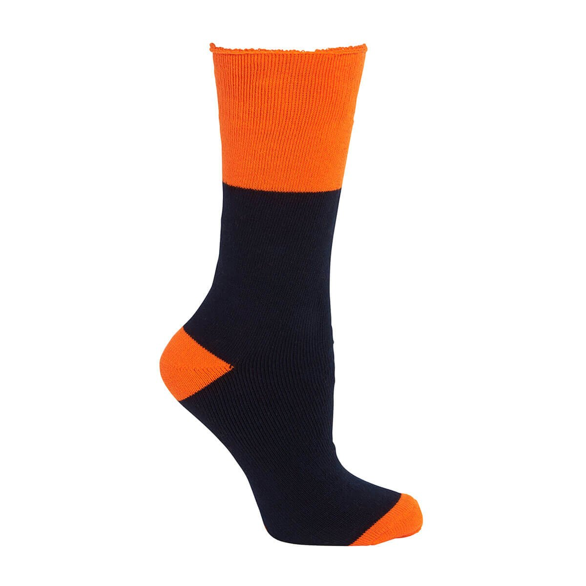 Work Sock (3 Pack)-Navy  /  Orange