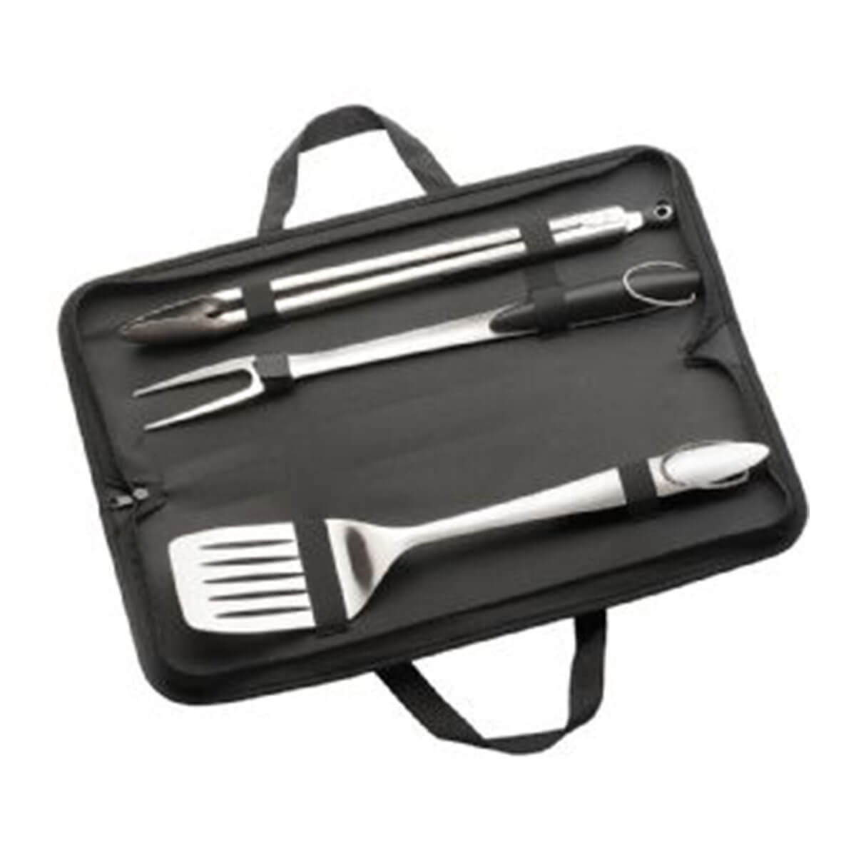 3 Piece Stainless Steel BBQ Set-Black