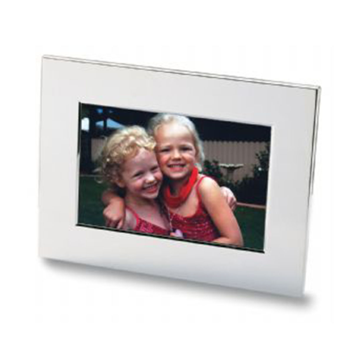 Nickel Plated Photo Frame-Silver.