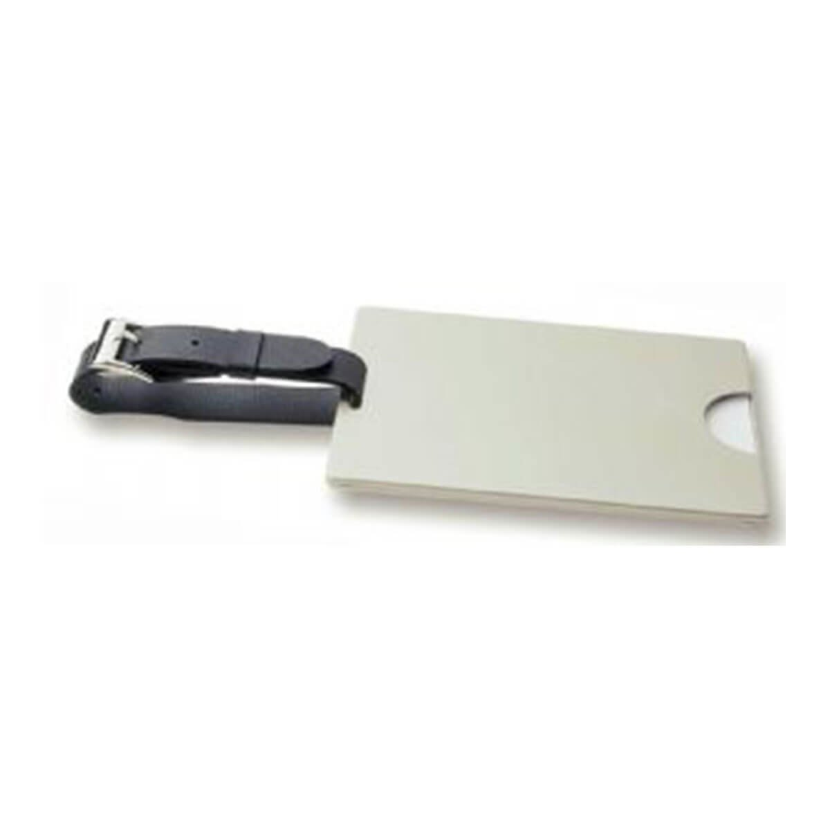 Covered Luggage Tag-Silver.