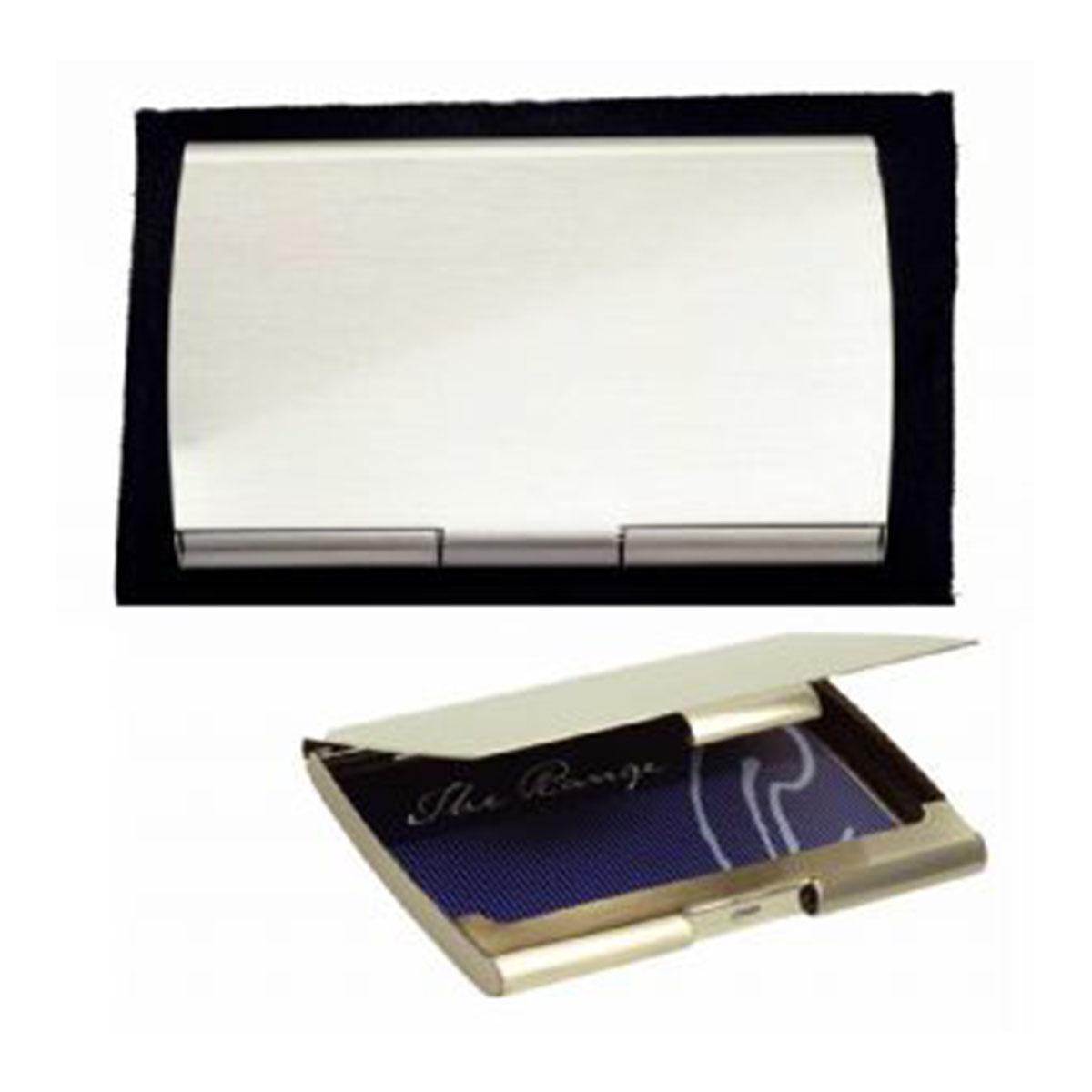 Pocket Business Card Holder-Silver.
