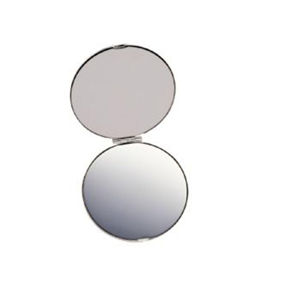 Silver Compact Mirror-Silver.