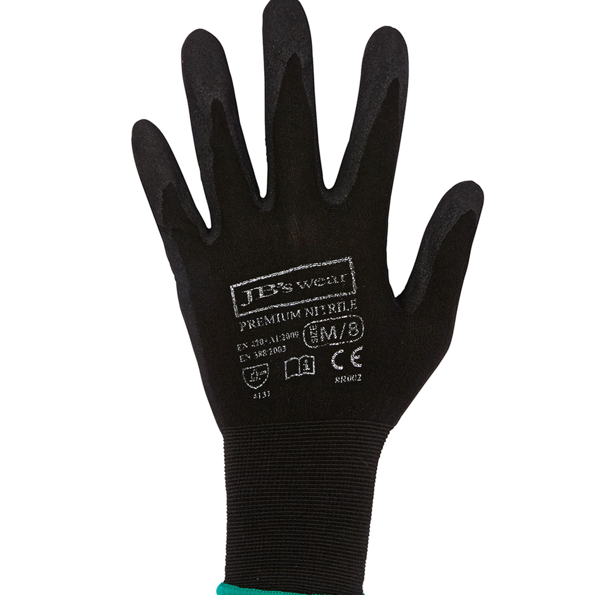 Premium Black Nitrile Glove-Black