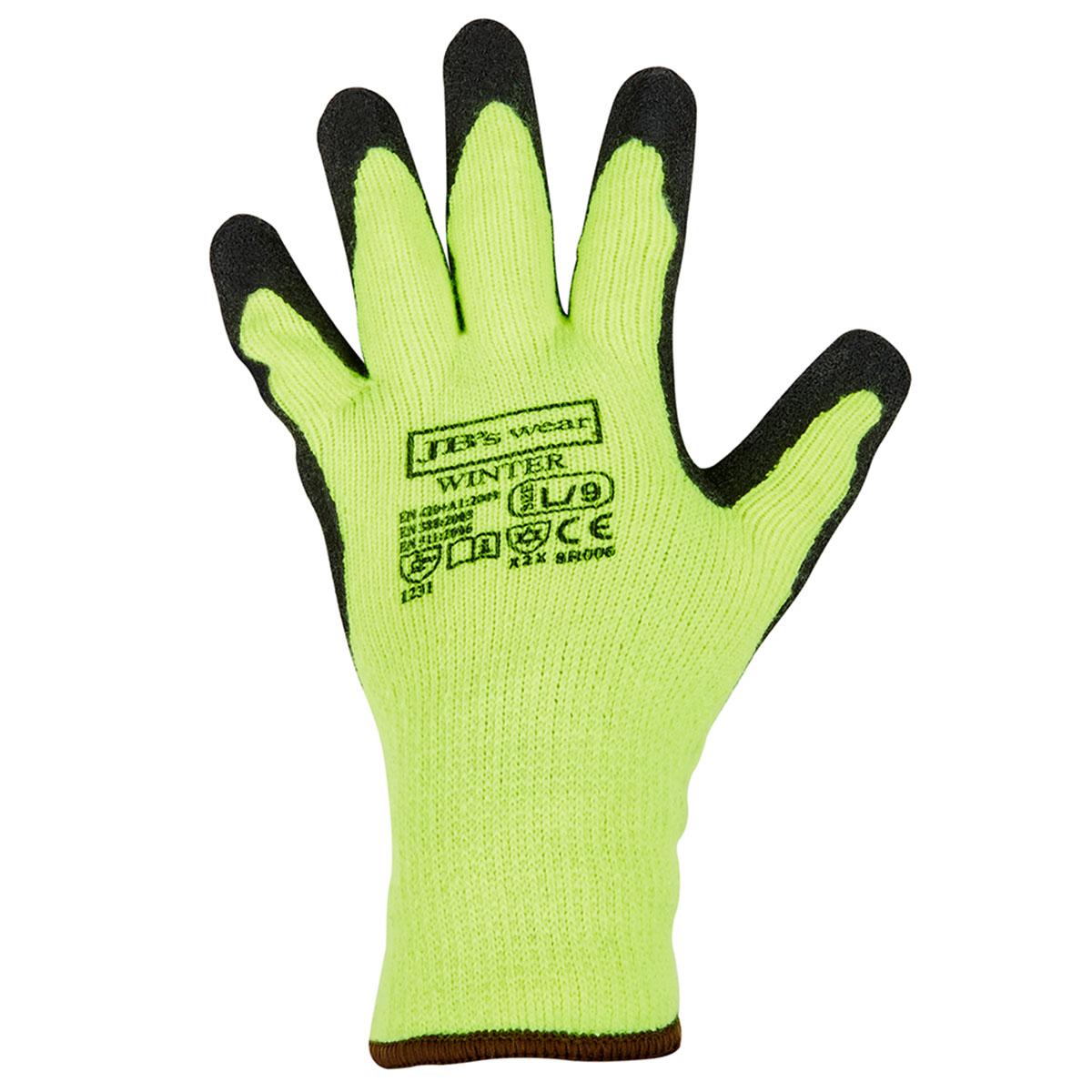 Winter Glove Lime/Black-Lime  /  Black