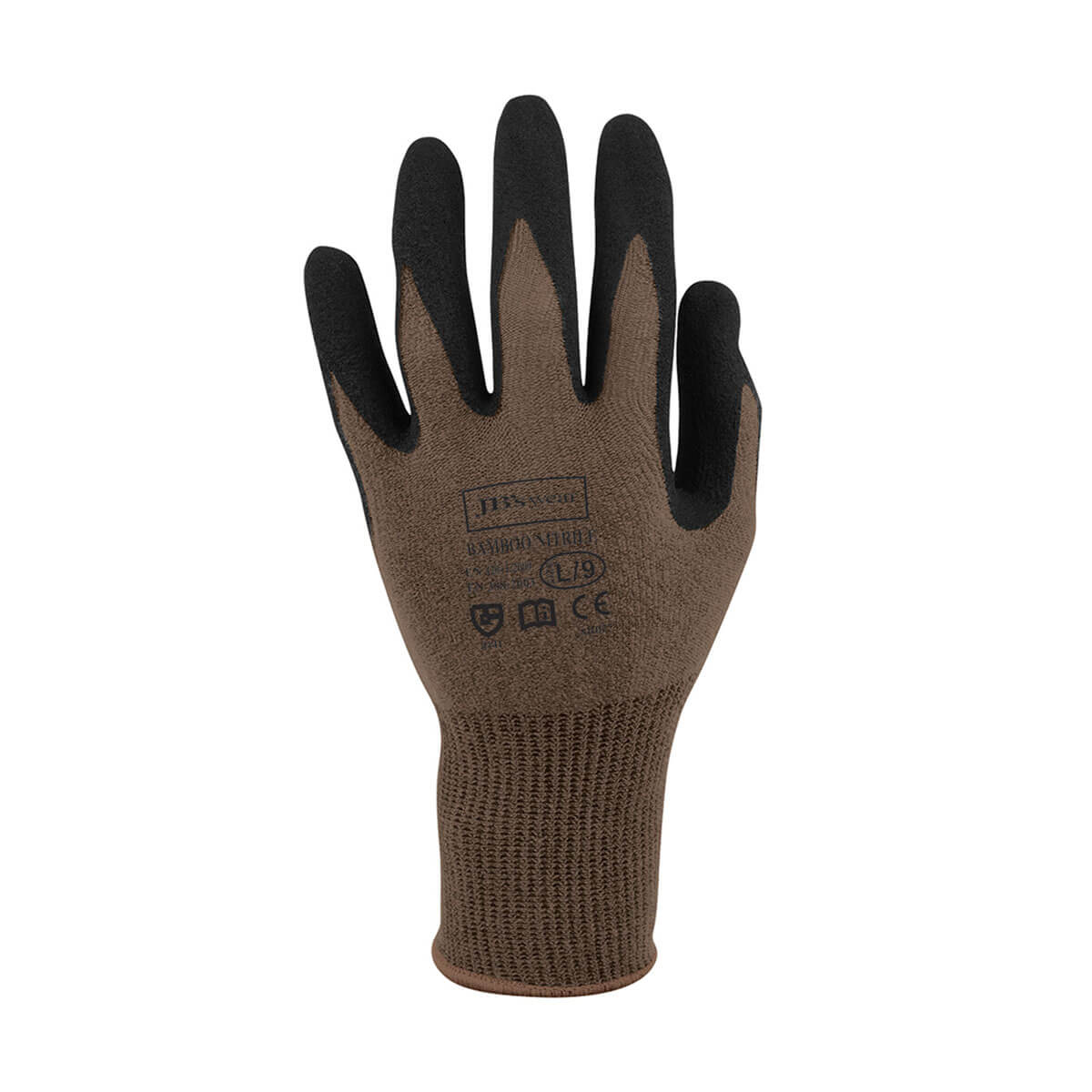 Bamboo Sandy Nitrile 1/2 Dipped-Charcoal  /  Black