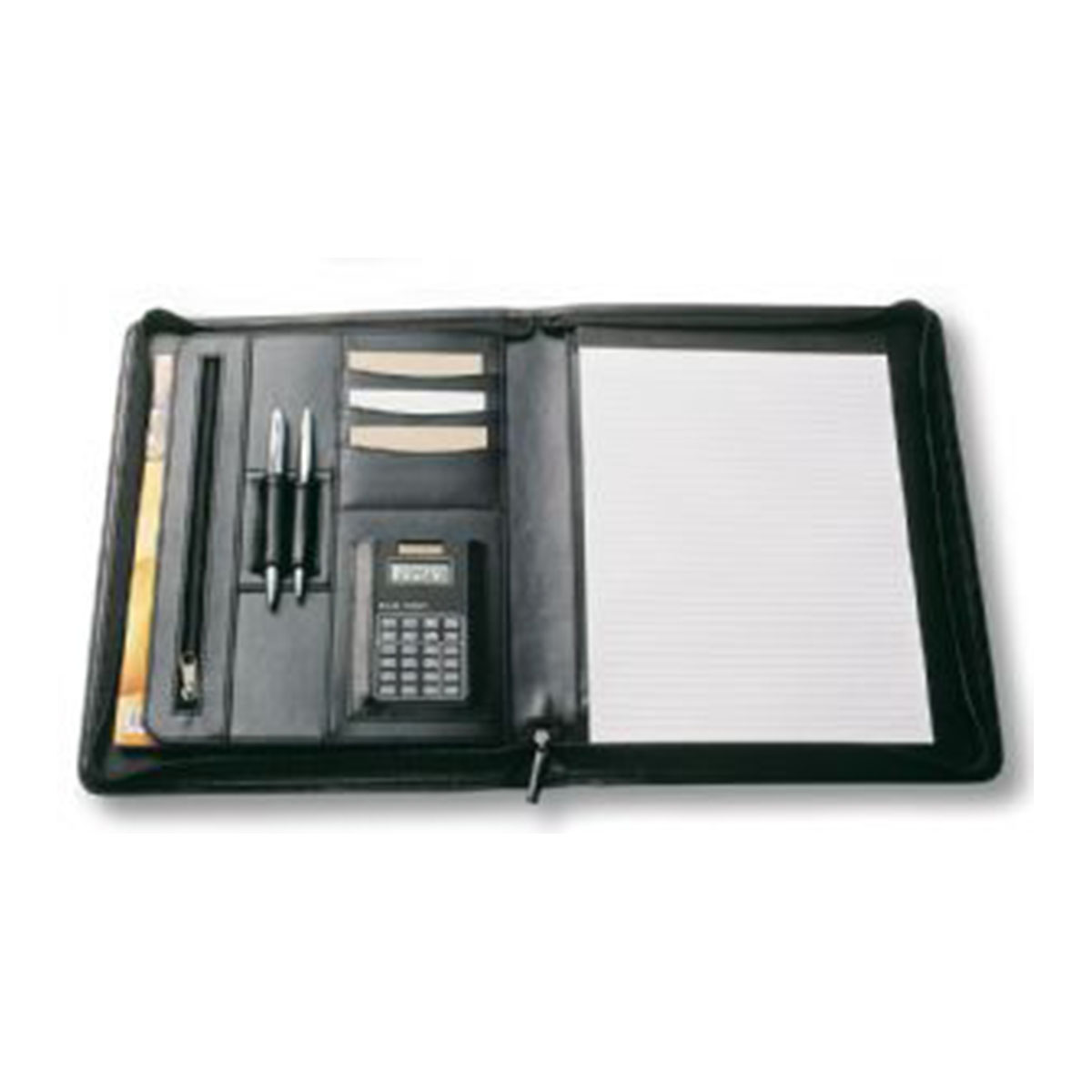 A4 Zippered Compendium-Black.