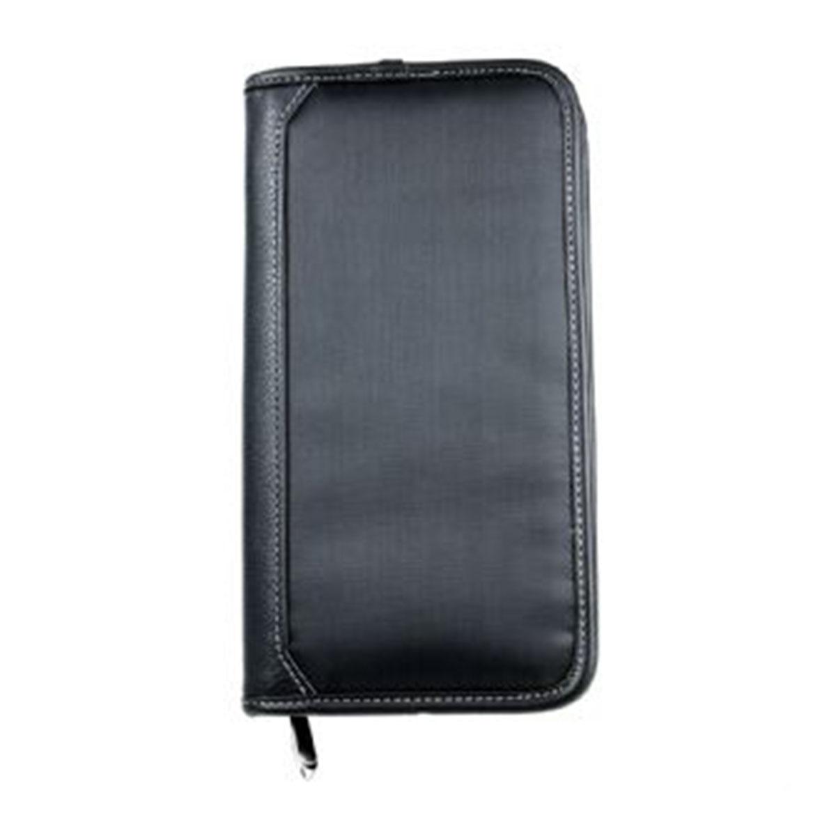 Zip Travel Wallet-Black.