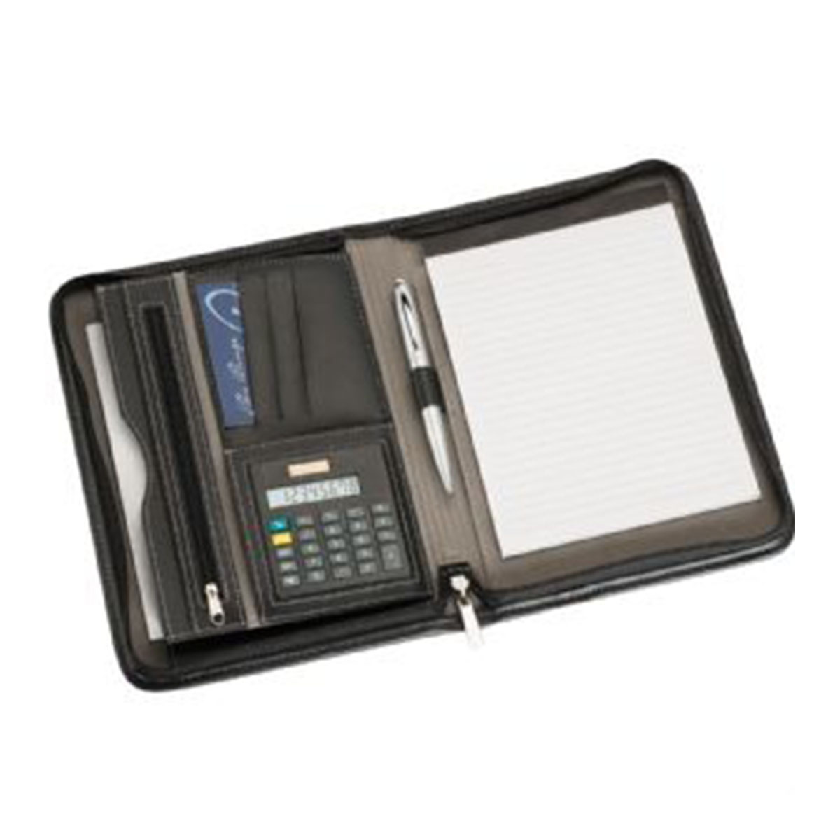 A5 Zippered Compendium-Black.