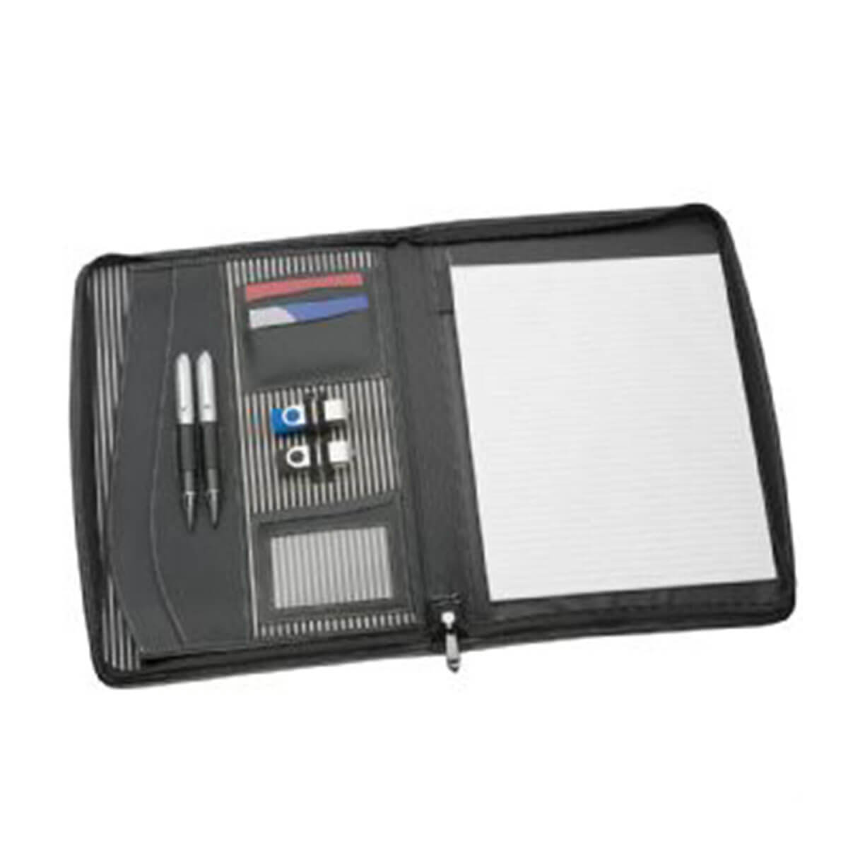 A4 Zippered Compendium-Black