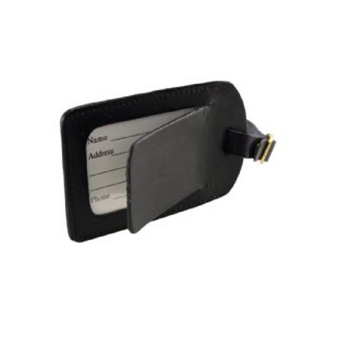 Covered Luggage Tag-Black.