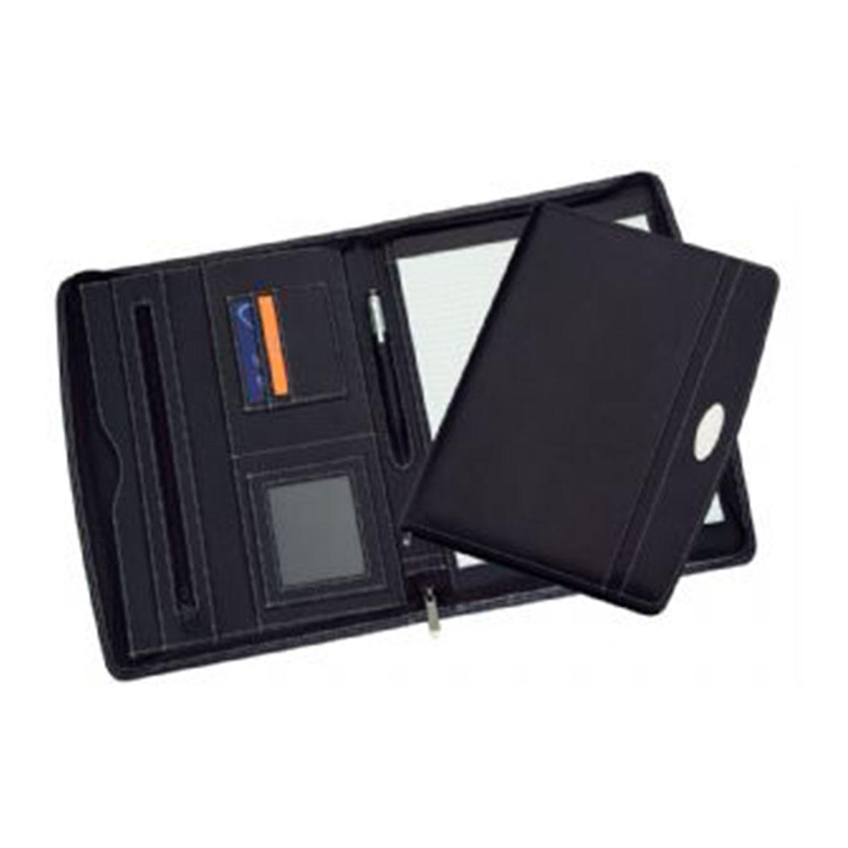 A4 Zippered Compendium-Black.