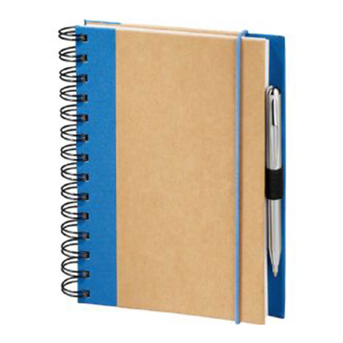 Evolution Recycled JournalBook-Natural with Blue Trim