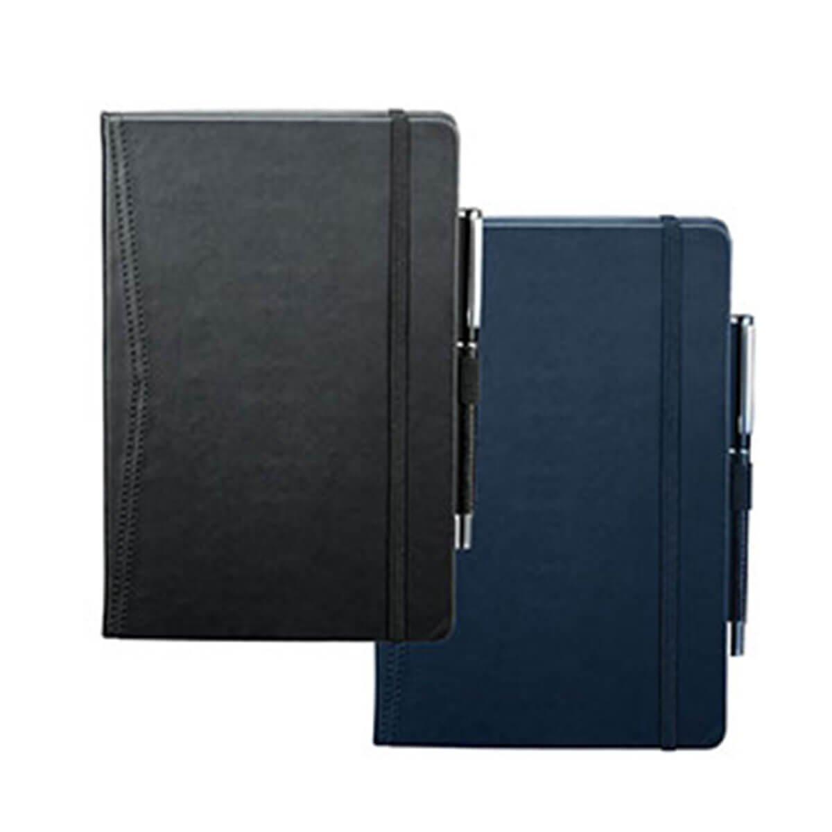 Pedova Pocket Bound JournalBook-Black with black elastic.