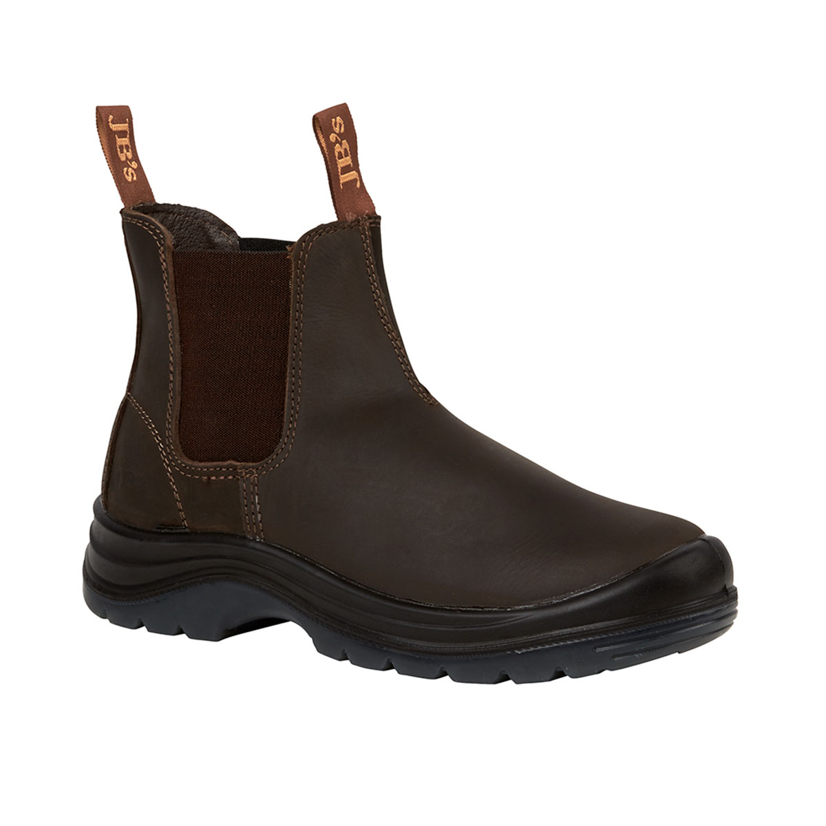 Elastic Sided Safety Boot-Claret