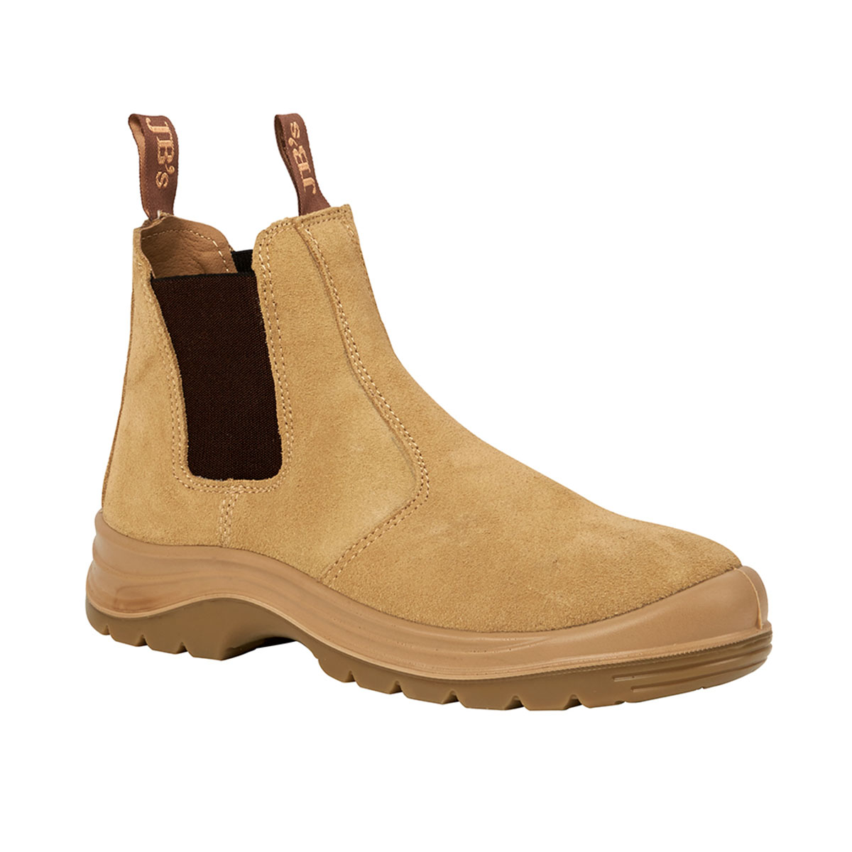 Elastic Sided Safety Boot-Sand (Suede)