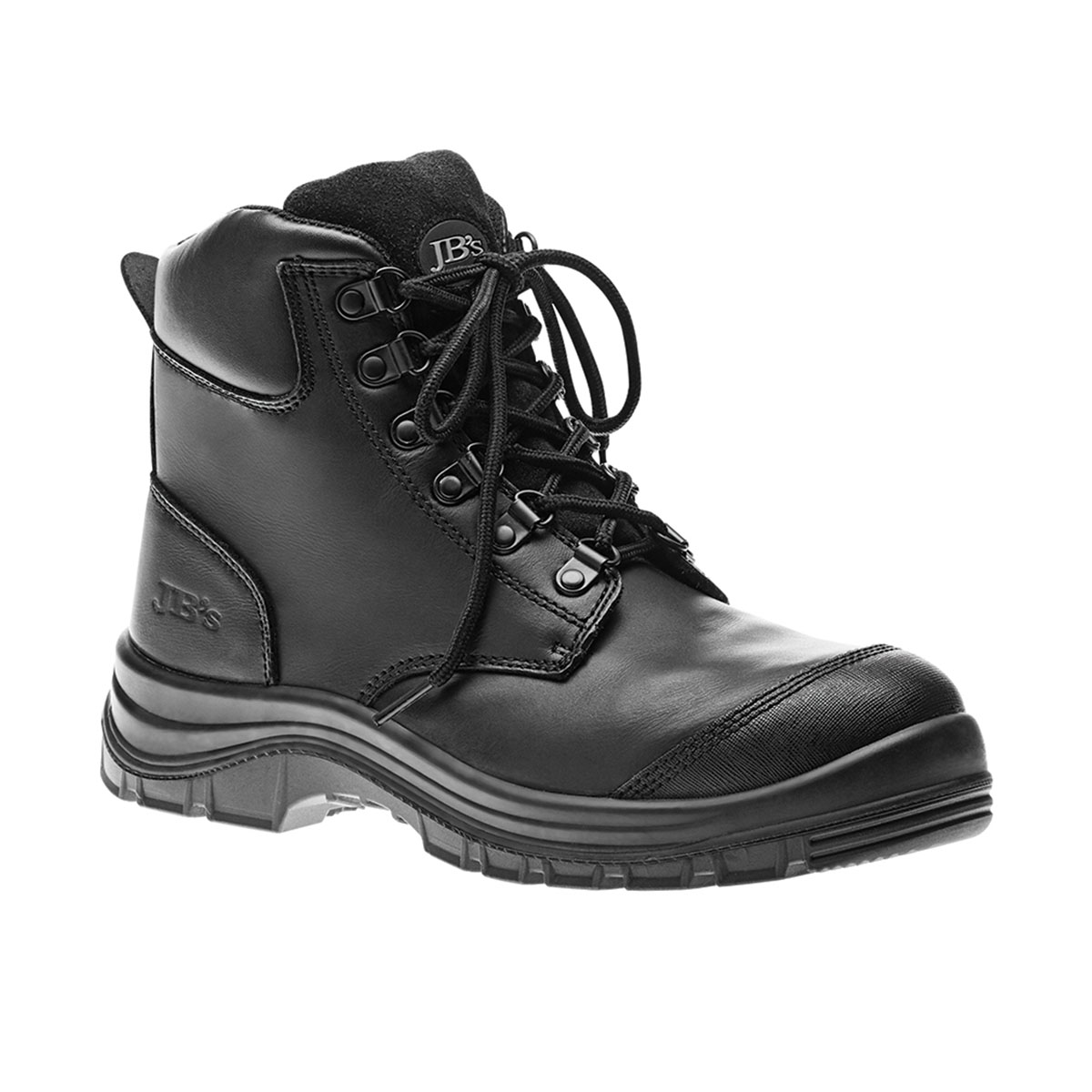 Lace Up Safety Boot-Black