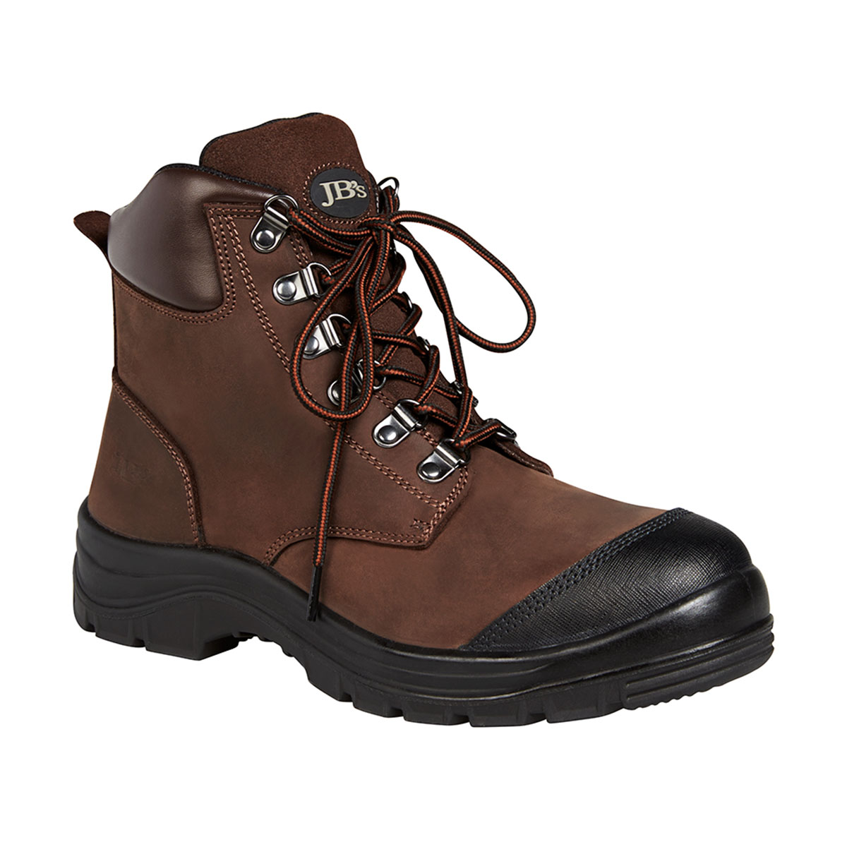 Lace Up Safety Boot-Waxy Brown