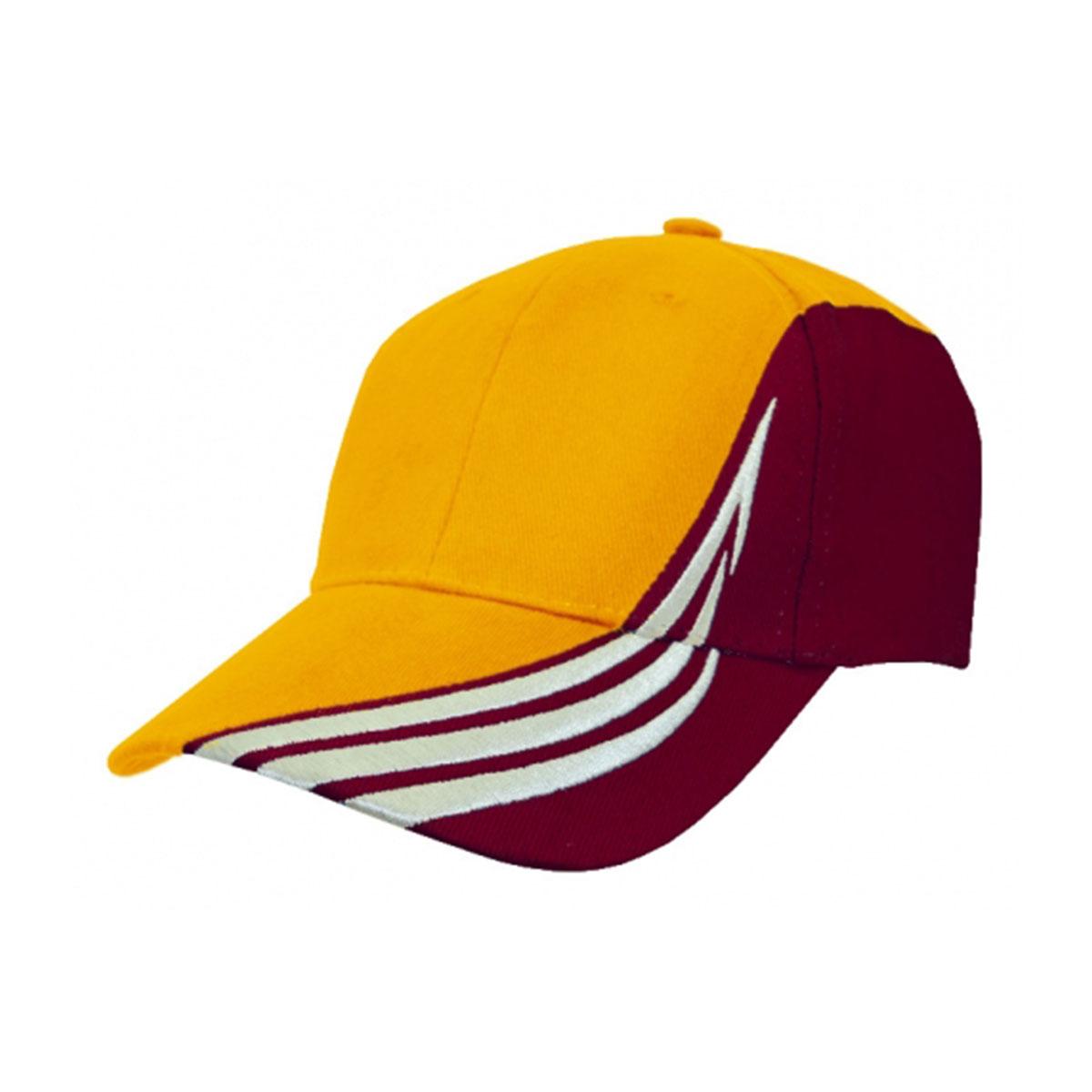 HBC Trim Design Cap-Gold / White / Maroon
