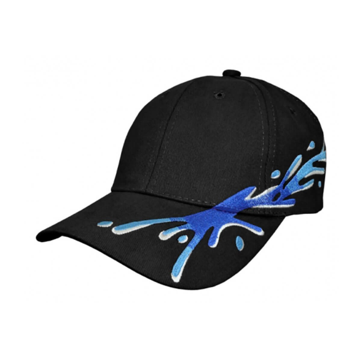 Splash Cap-Black / Royal / Sky / White