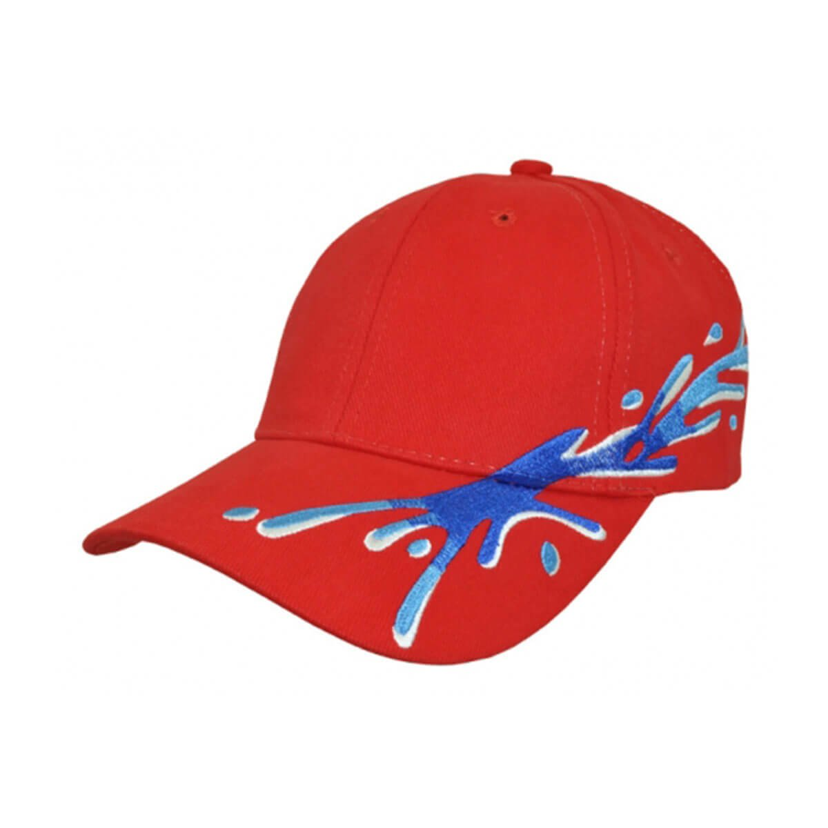 Splash Cap-Red / Royal / Sky / White