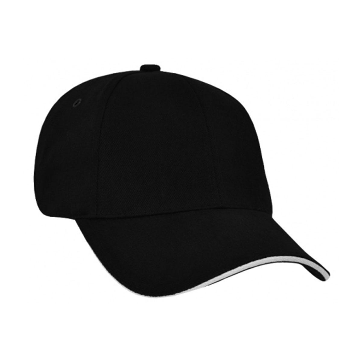 HBC Sandwich Peak Cap-Black / White