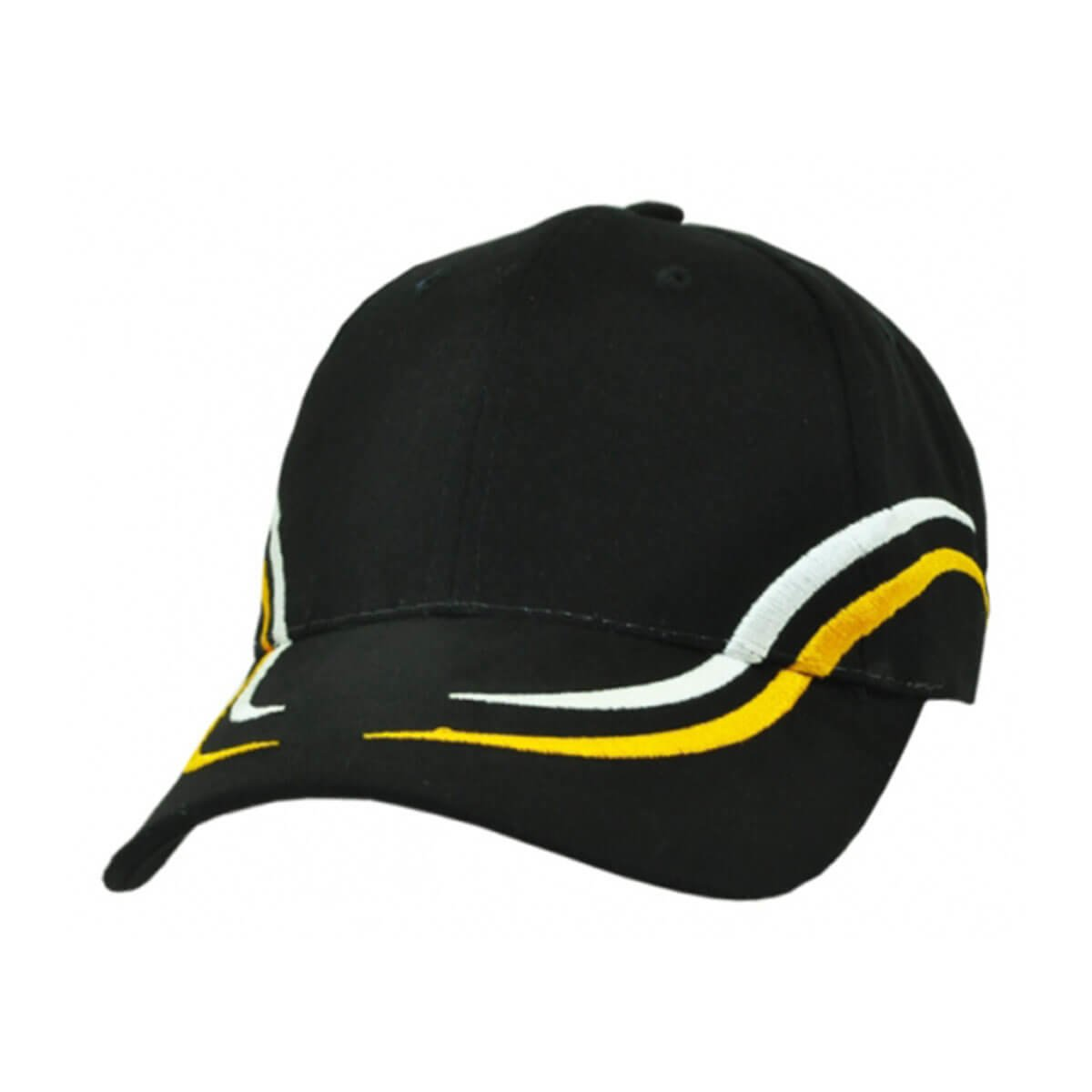 Langdon Cap-Black / White / Aussie Gold