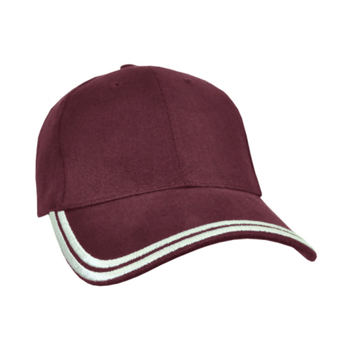 HBC Double Piping Cap-Maroon / White