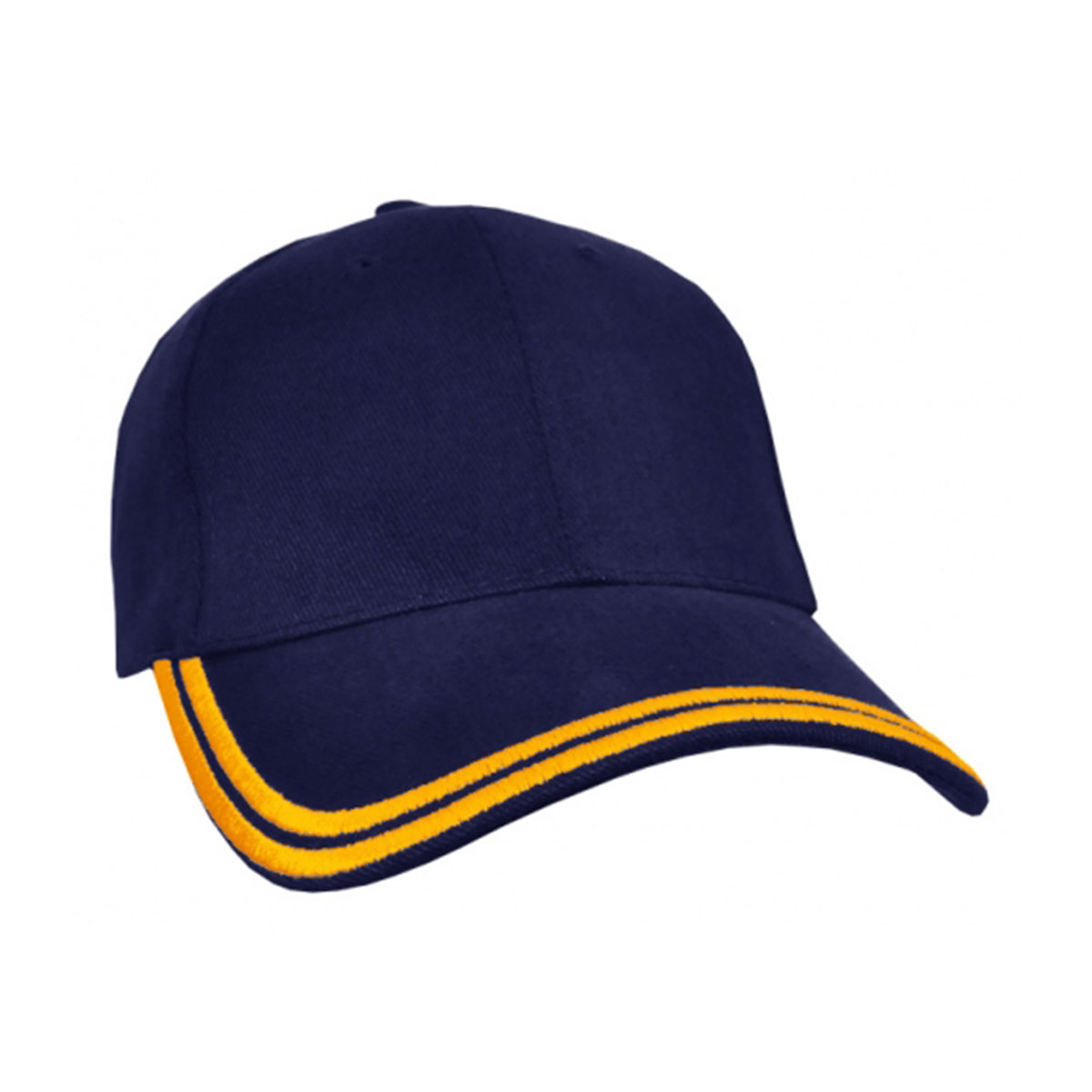 HBC Double Piping Cap-Navy / Gold