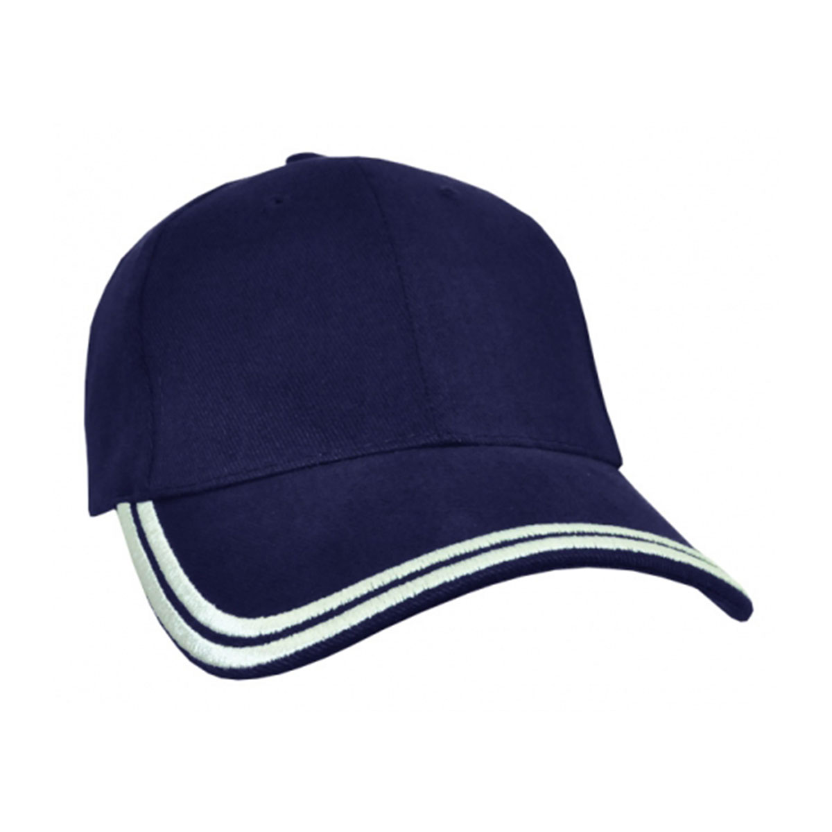 HBC Double Piping Cap-Navy / White