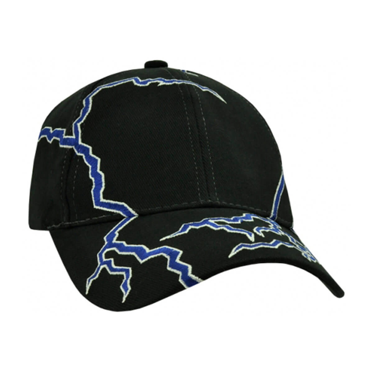 Lightning Cap-Black / Royal / White
