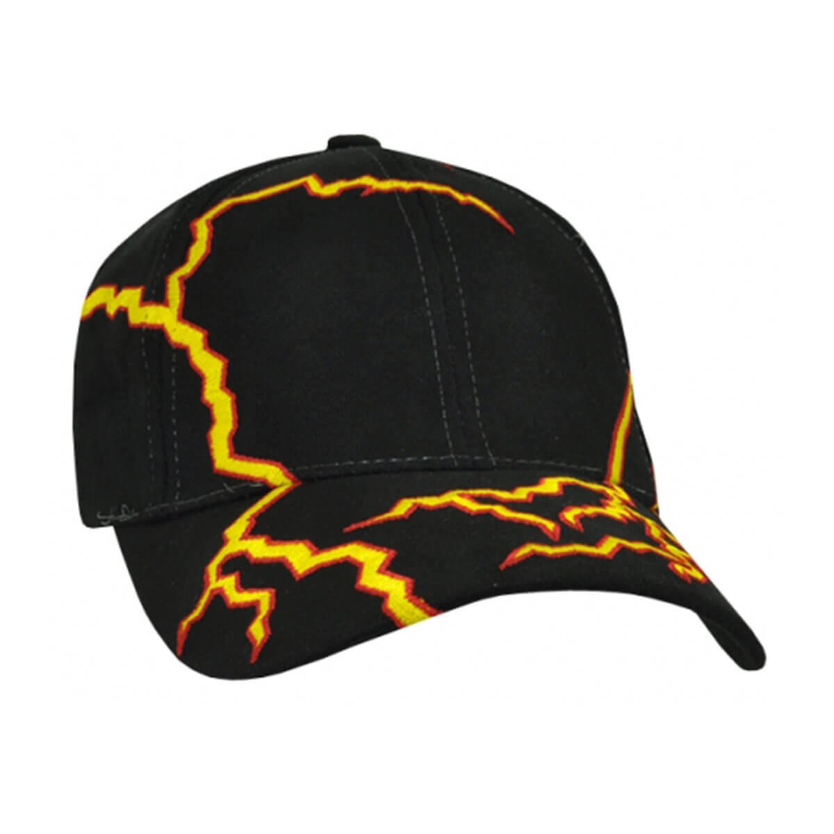 Lightning Cap-Black / Yellow / Red