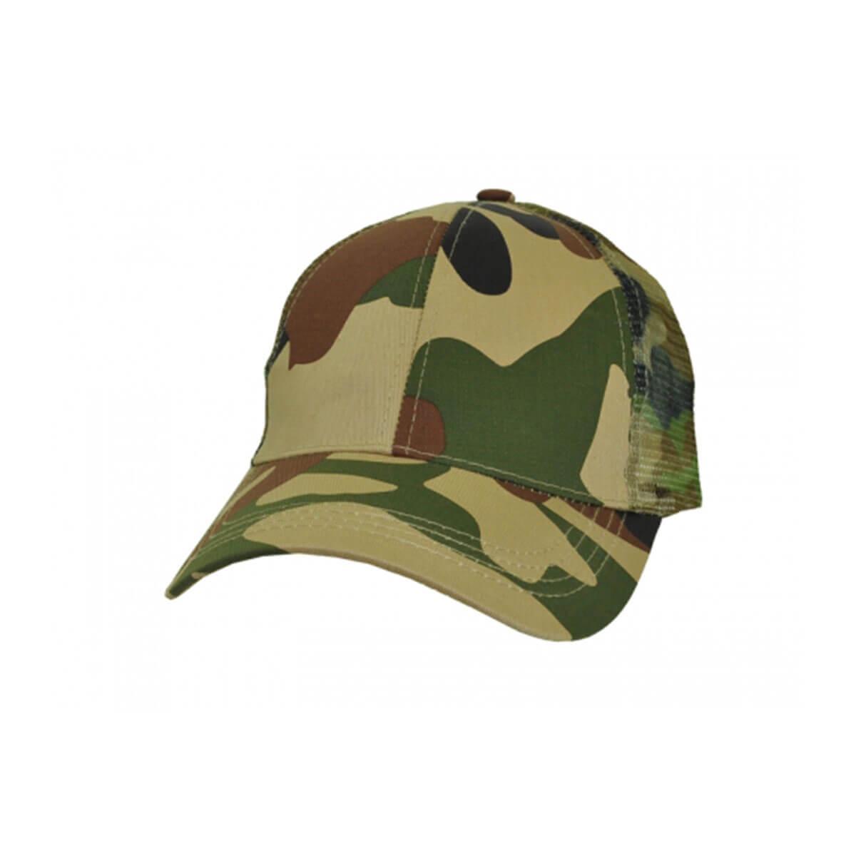 Camo 6-Panel Cap-Army Green